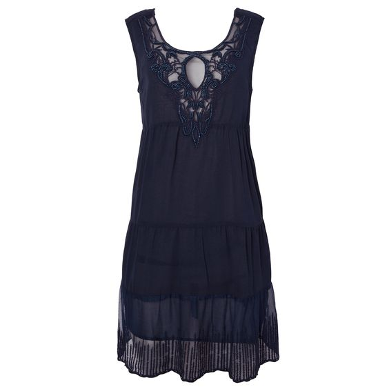 RAPSODIA - Vestido Rapsodia bordados - marinho