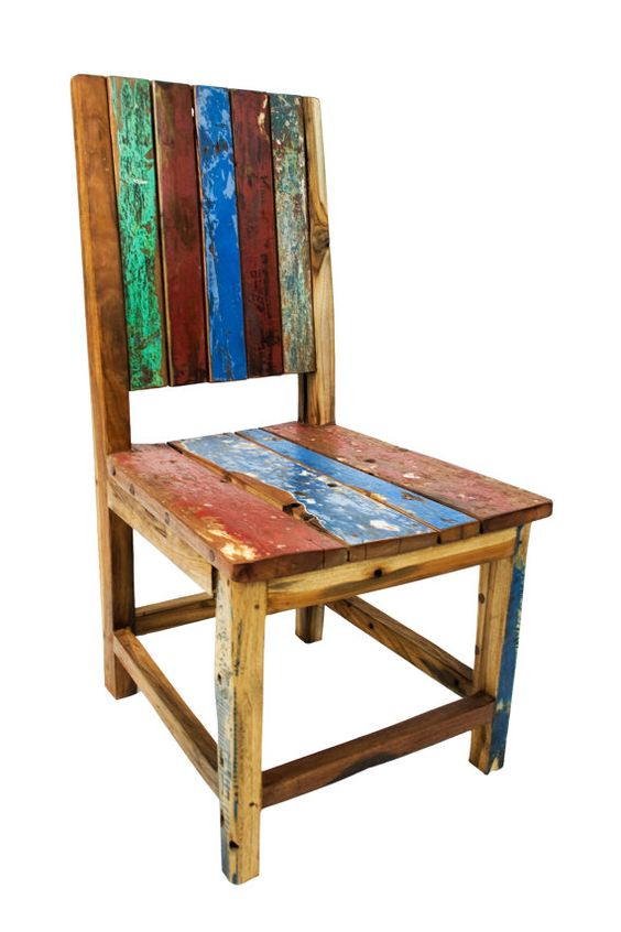 Reclaimed wood chairs by EcologicaMalibu on Etsy, $300.00