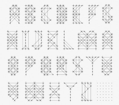 Andrew Byrom - Pigeon Needle Font