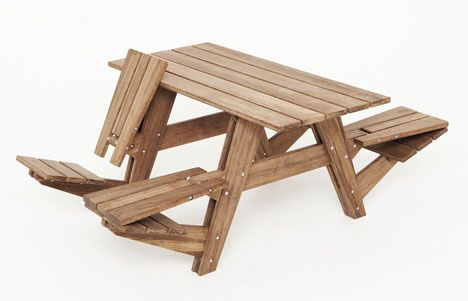 Picnic table/lounge chairs: Wouter Nieuwendijk, Convertible Picnic, Idea, Craft, Picnic Tables, Lounge Chairs