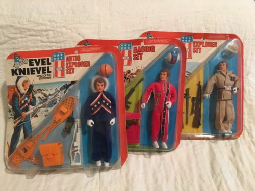 LOT Of 3 Different Evel Knievel Action Figure Sets Ideal Toy Co.  1975 .....Mego https://t.co/4weNC7XlFR https://t.co/SnLU58HLT9