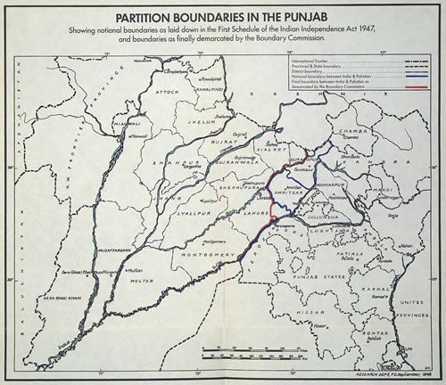 Map 3 Partition Boundaries In The Punjab Teaching Geography