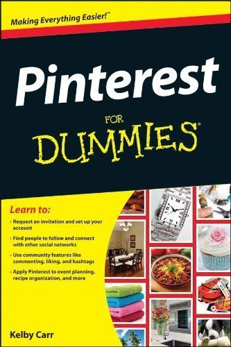 Yay, you can get it now in eBook format. Pinterest For Dummies (For Dummies (Computer/Tech)) by Kelby Carr, www.amazon.com/...