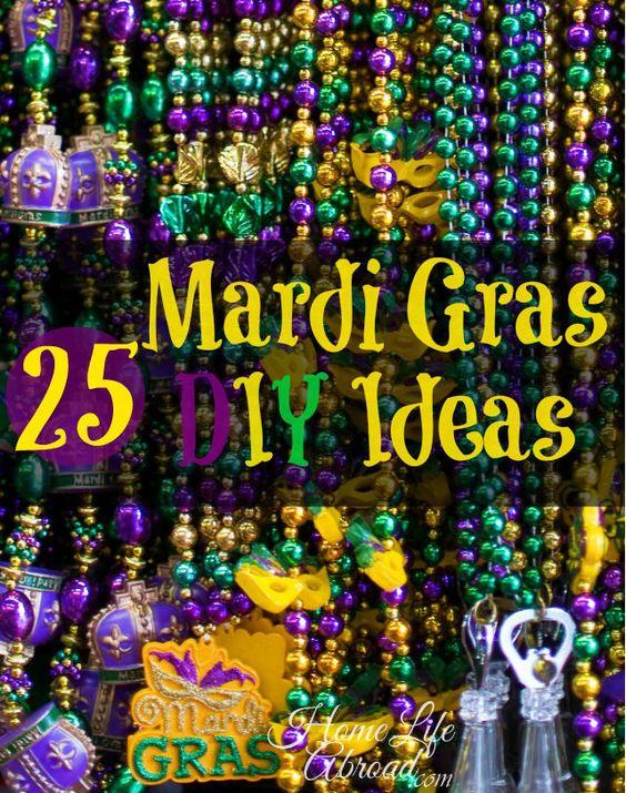 Mardi Gras DIY Ideas @HomeLifeAbroad.com #mardigras #diy