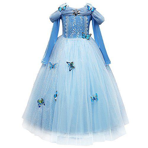 Anna Elsa Mädchen Kleid Karneval Weihnachten Geburtstag Party Fantasy Kostüm