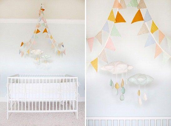 Quarto de bebê decorado branco clean e arejado | Quarto de bebê – Decoração, bebês, gravidez e festa infantil