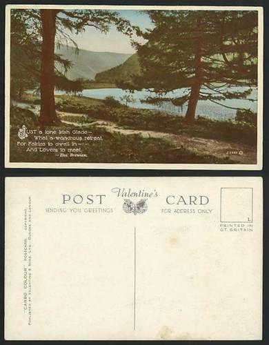 Irish Glade - Fairies to Dwell Lovers Meet Old Postcard
