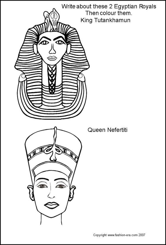 free coloring pages king tut - photo#24