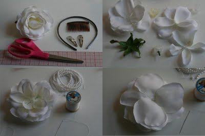 El Club De La Familia: Novias - Cómo hacer una flor se tela