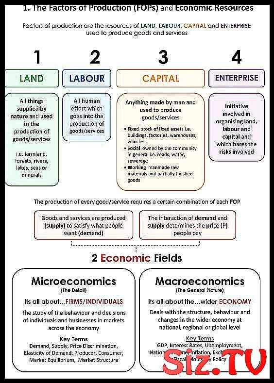 Factors Of Production And Types Of Economics Factors Of Production