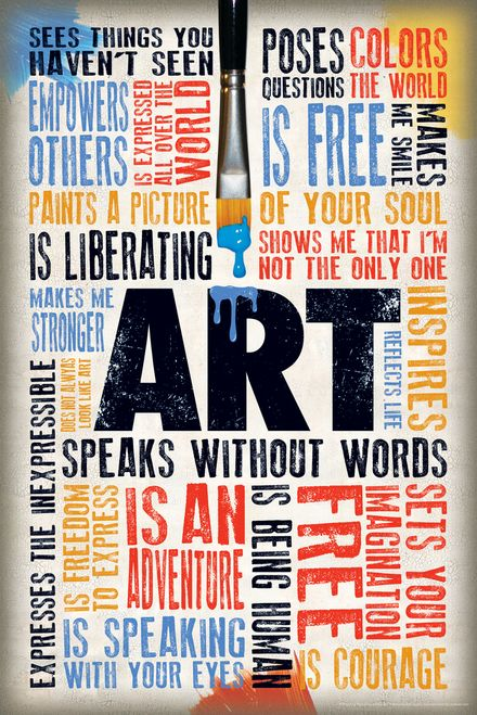 Art Speaks Without Words Quotes Cool Wall Decor Art Print Poster 12x18 Art Room Posters Quote Posters Word Poster