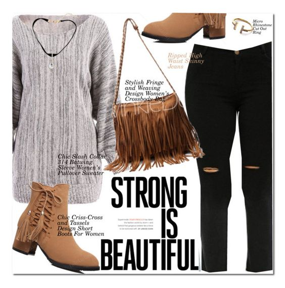 """Strong Is Beautiful"" by oshint ❤ liked on Polyvore featuring awesome, amazing, fabulous, wonderful and twinkledeals"