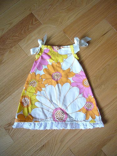 Prudent baby pillowcase dress.