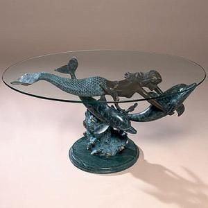 Mermaid dolphin coffee table coastal ideas and decor pinterest mermaids dolphins and Mermaid coffee table
