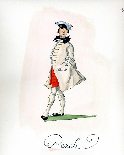 French Army 1735 - Infantry Regiment Perche, by Gudenus.