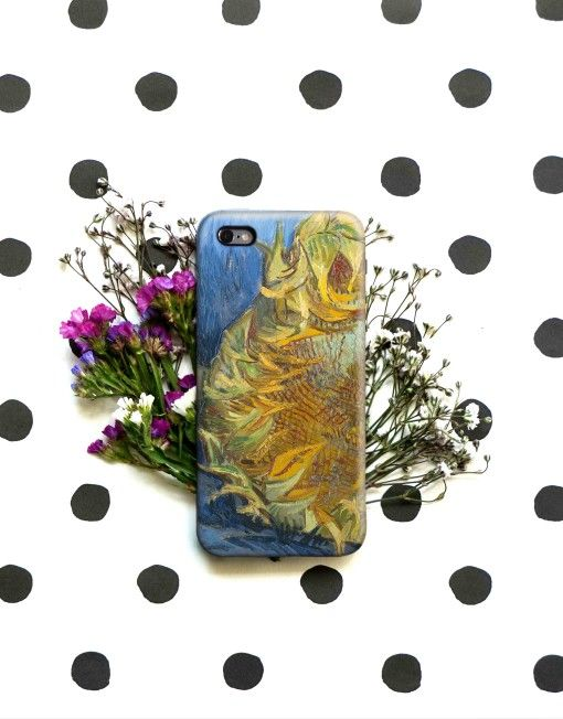 2 sunflowers Van Gogh Art Painting iPhone 6 S Case, 6 Plus Cover, Samsung Galaxy Case, HTC Case, Sony Xperia Case, LG G4 Case, Huawei Case, Galaxy Note Case, phone case