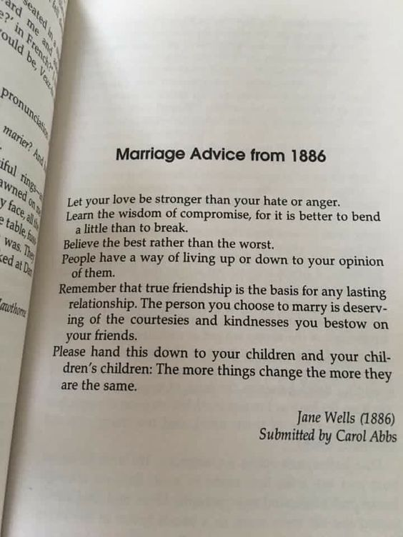 Marriage advice from 1886: