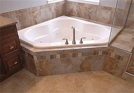 porcelin bathroom remodels | you don t always have to go to the expense natural stone tile to get a ...