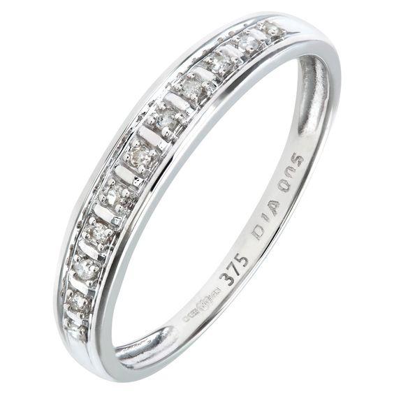 Bague en or blanc et diamant femme