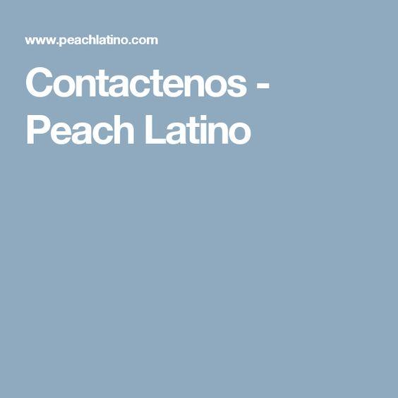 Contactenos - Peach Latino