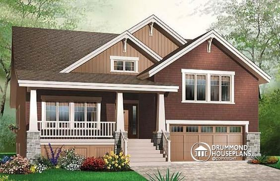 W3441 craftsman 3 to 4 bedrooms master suite on main floor open floor plan two car garage Master bedroom main floor house plans
