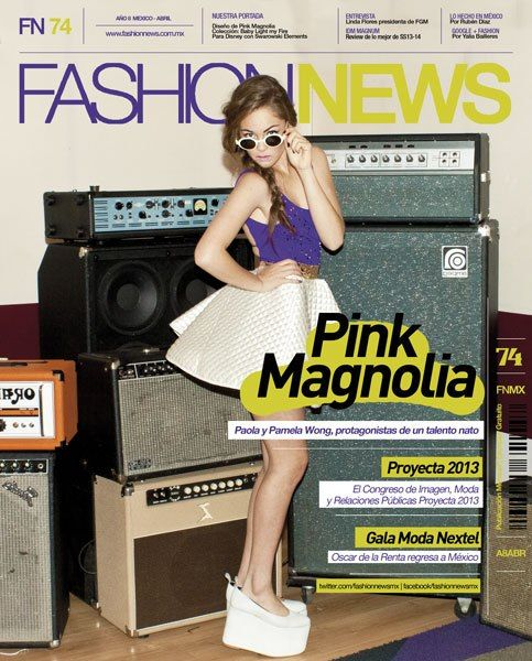 Fashion News MX #74 cover ft. the designs of Pink Magnolia