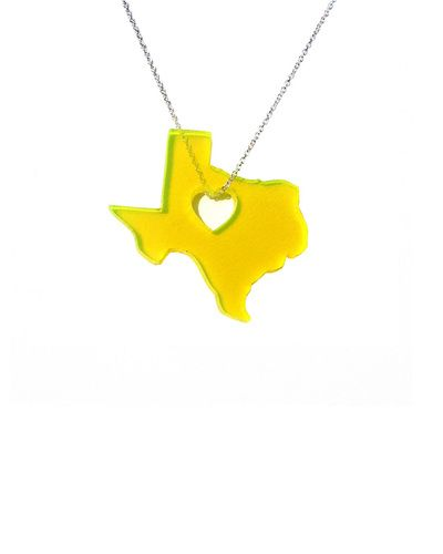 The Texas Neon Orange Necklace by JewelMint.com, $29.99