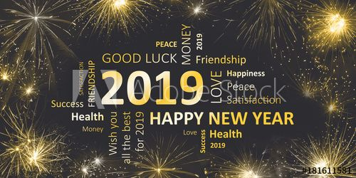 Happy New Year 2019 Silvester Greeting Card With Good Wishes In 2021 Happy New Year Greetings Happy New Year Message New Year Wishes