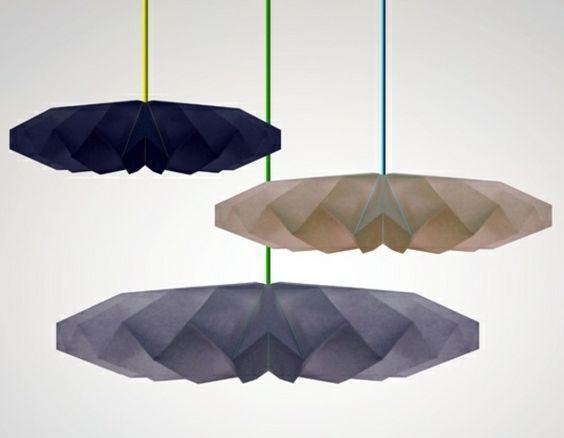 pendelleuchten papierlampen mit uniquem design dunkel
