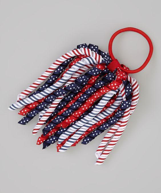 Love this Navy & Red Patriotic Stripe Hair Tie by  on #zulily! #zulilyfinds
