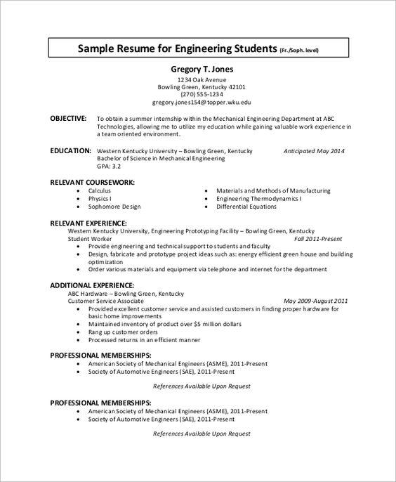 sample internship resume examples word pdf resumes and cover - internship resume examples