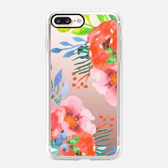 Iphone 7 Plus Case Bright Summer Watercolor Floral By Jande