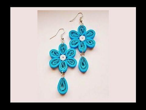 Quilling paper Earrings Making with Comb earrings making designs - ear... Quilling comb ...