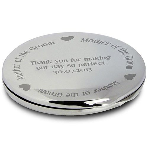 Personalised Mother of the Groom Handbag Mirror  from Personalised Gifts Shop - ONLY £14.99