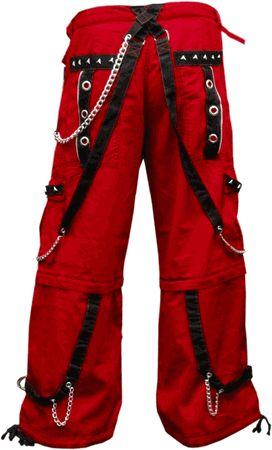 "Tripp NYC ""Crimson Specter"" Bondage Pants (Red)"