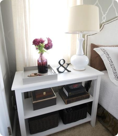 Great looking inexpensive nightstand solution decor and for Creative nightstand ideas