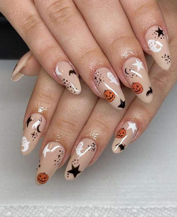 diseños de uñas para halloween