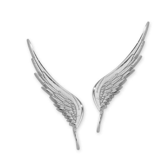 Graceful Angel Wings Ear Pin Earrings 14k White Gold #earpinearrings #sterlingsilverearpins #earringsthatgoup #pinearrings #earpinsjewelry #earpin #earpin #earspirals #earspirals #slideonearrings #climbtheearearrings #wrapearrings #nonpiercedearrings #earcuffs #personalizedbracelets #earcuffs #cuffearrings #cliponearrings #earspiralsearrings #earspiralearrings