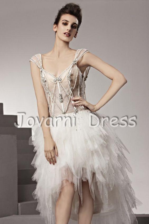 Fashion Short V-neck Ball Gown Dress