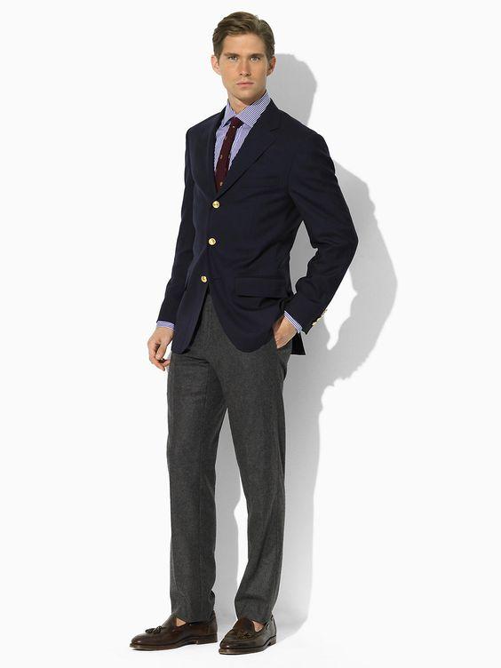 Three-Button Navy Blazer - Sport Coats Men - RalphLauren.com