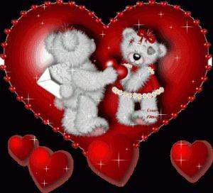Imagen de amor de una pareja de ositos dentro de un corazón de amor - http://www.imagenesdeamor.pro/2013/08/imagen-de-amor-de-una-pareja-de-ositos-dentro-de-un-corazon-de-amor.html