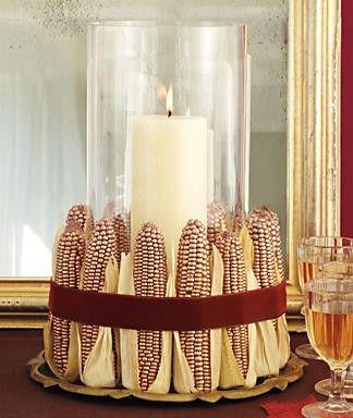 Native corn wedding decor idea