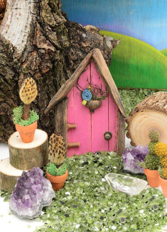 Fairy Door Pinky Tuscadero Eco Friendly by WillowbeeStudio on Etsy