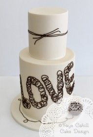 Tie the Knot cake by Faye Cahill