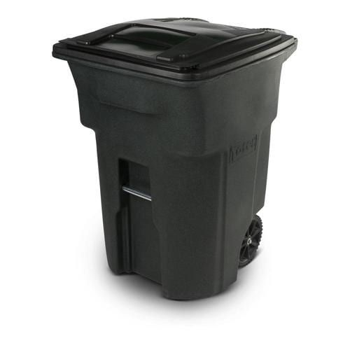 Toter 96 Gallon Greenstone Plastic Wheeled Trash Can With Lid Lowes Com In 2020 Trash Can Trash Cans Canning