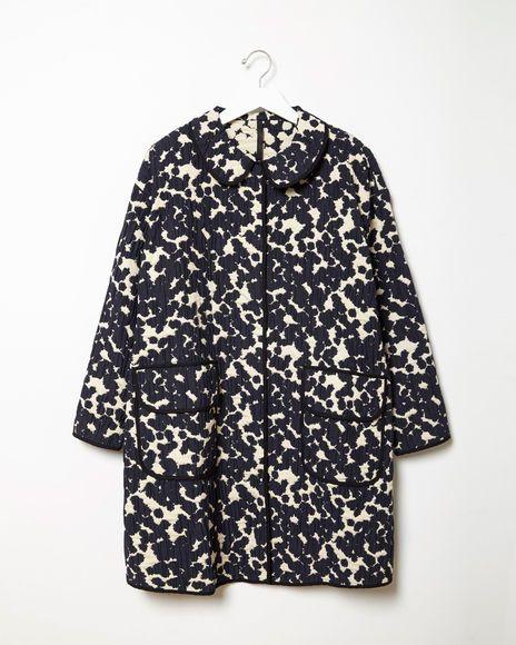 Sara Lanzi | Jacquard Coat | La Garçonne