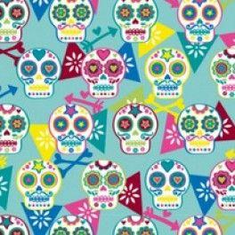 Kitsch Kitchen - Sugar Skull  - En Pré-vente - EXPEDIé FIN NOVEMBRE - Prix spécial 11€ le mètre au lieu de 12.90€ jusqu'à livraison dans nos...