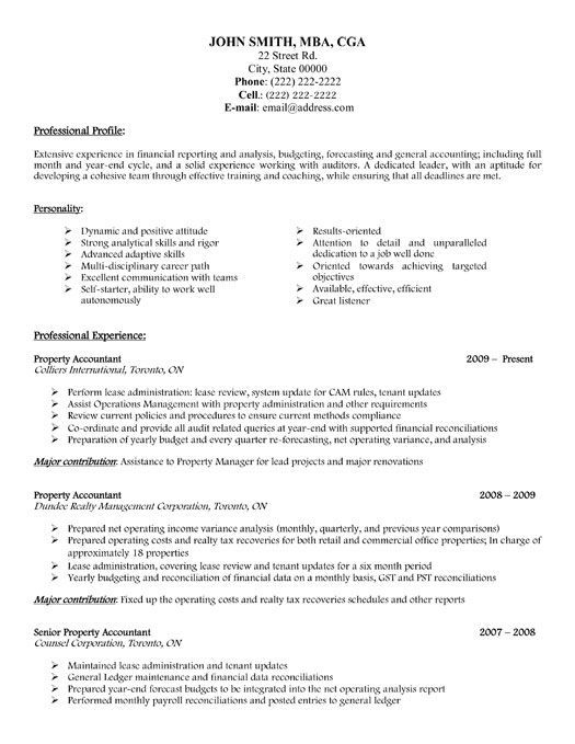 Click Here To Download This Property Accountant Resume Template Http Www Resumetemplates101 Com Acc Accountant Resume Job Resume Examples Job Resume Samples