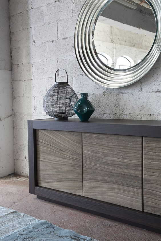 Sideboard with doors PICASSO Stone Door by RIFLESSI