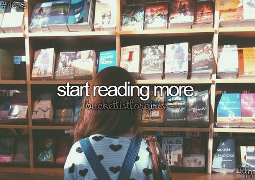 Not necessarily because I want to, but because I should/have to read more. -.-: